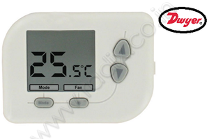 Compact Digital Thermostat with Heat Pump Control